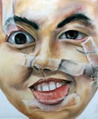 Ruby Schechter, Distorted Self Portrait