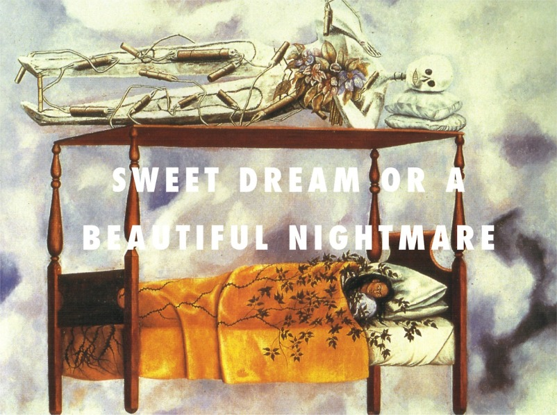 The Dream/The Bed (1940), Frida Kahlo / Sweet Dreams, Beyoncé