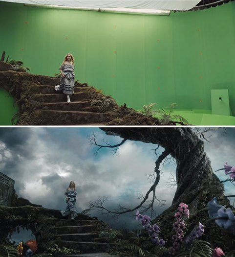 Alice-In-Wonderland-movie-before-after-visual-effects-2